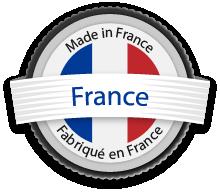 Logo garantissant une fabrication 100% française
