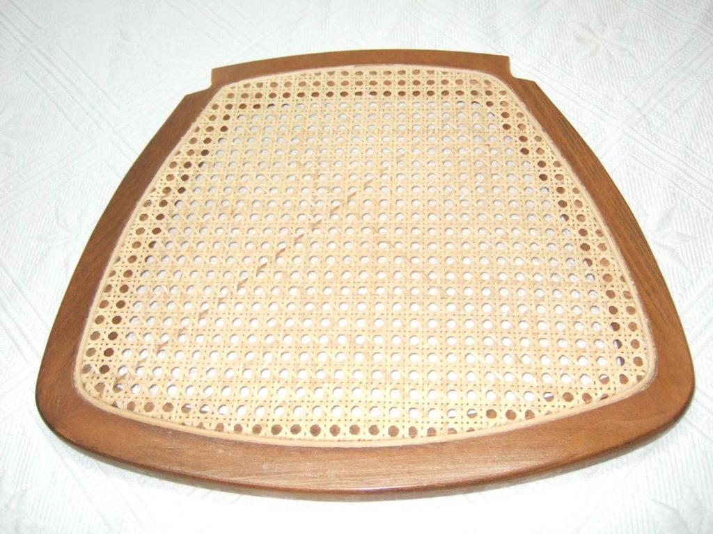 exemple de réparation d'un cannage de chaise