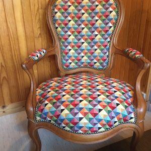 Réfection d'un fauteuil Louis Philippe