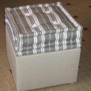 Pouf fabriqué en Bretagne par la Literie Toullec à Lesneven